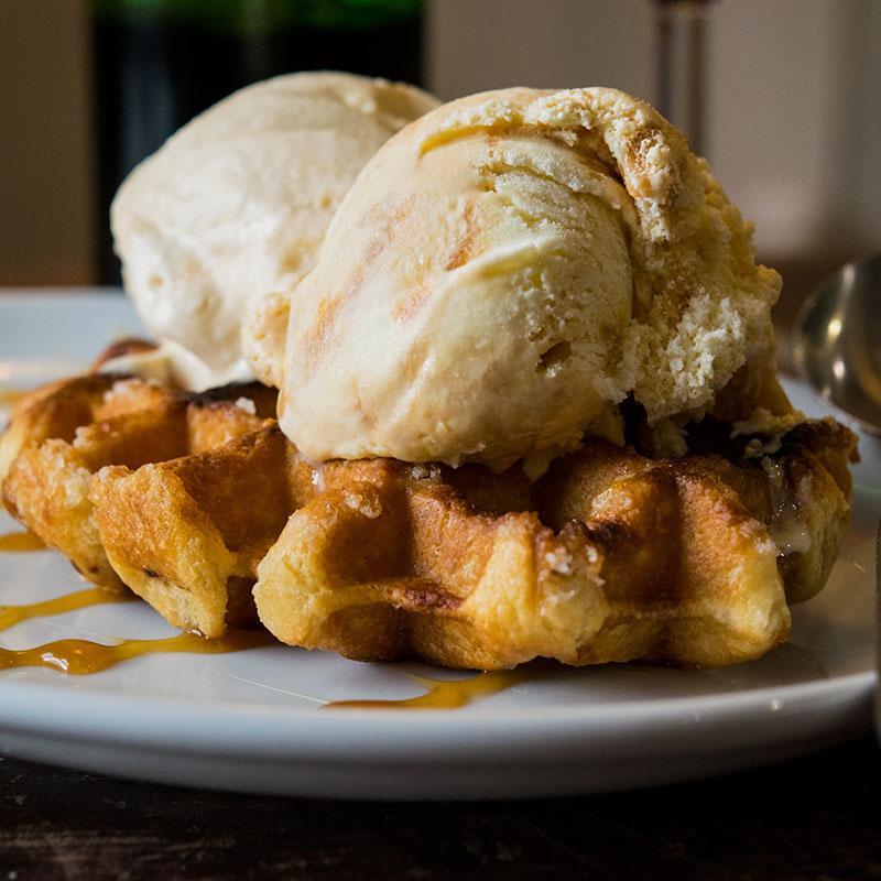 Belgian Waffle | The Open Hearth Restaurant, Pontypool