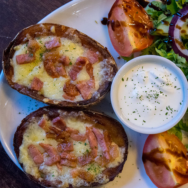 Loaded Jacket Potatoes - The Open Hearth, Pub and Restaurant