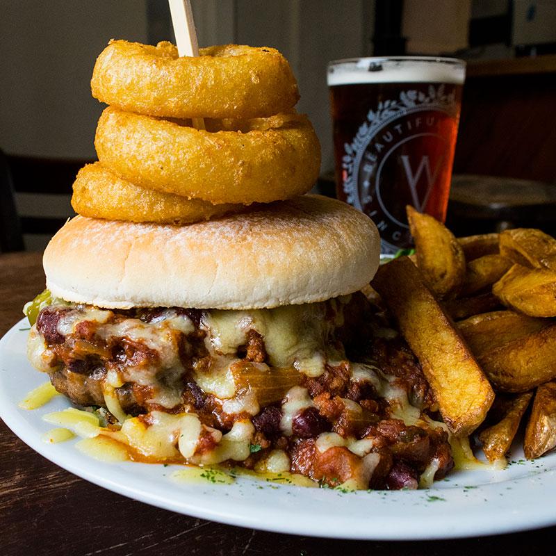 Sloppy Joe Burger | The Open Hearth Restaurant in Pontypool